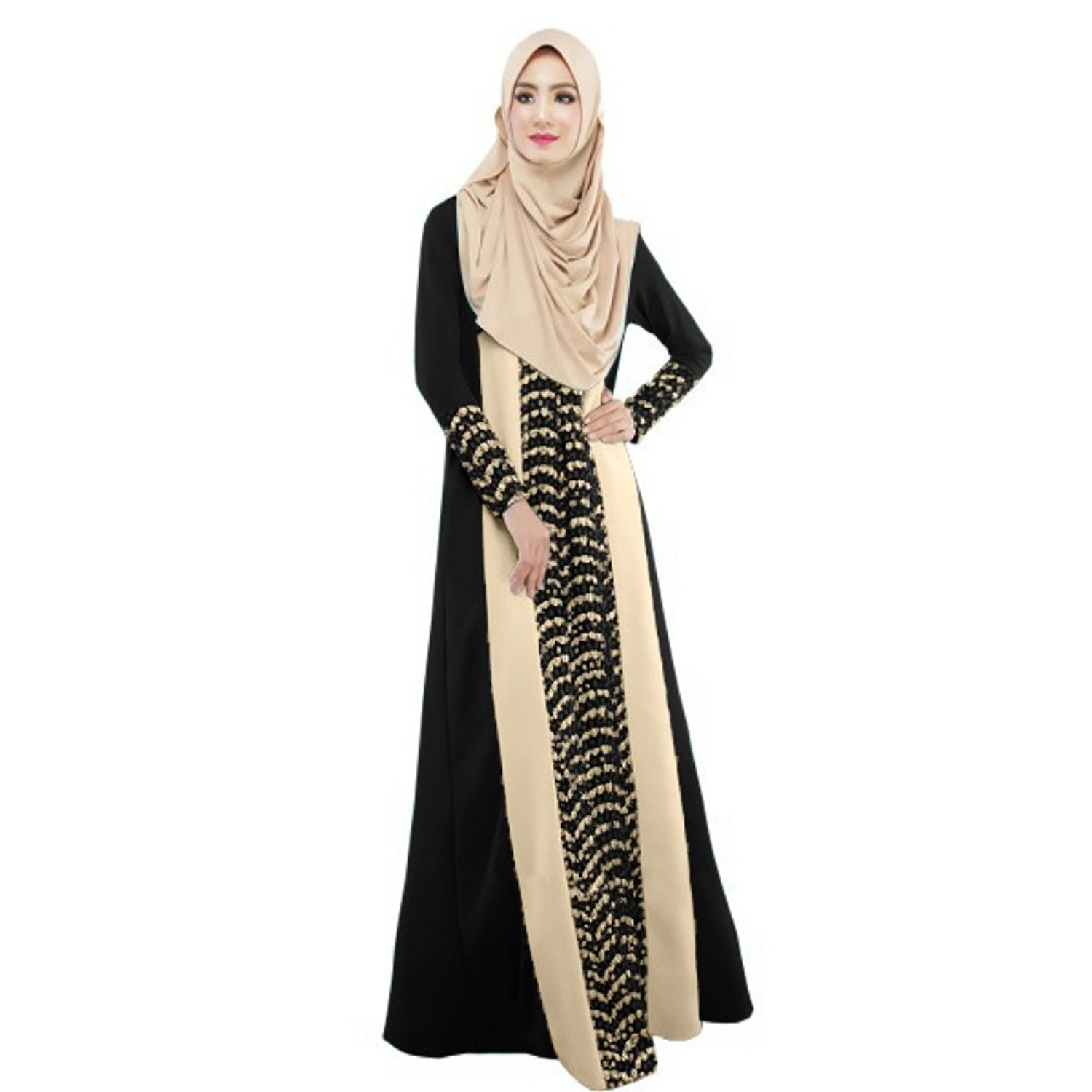 Timall Vintage Women Kaftan Abaya Jilbab Islamic Muslim Cocktail Maxi Dress Timall Wholehalal